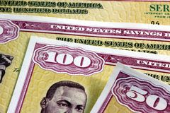 United States Savings Bonds Stock Images