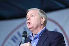 United States Senator from South Carolina, Lindsey Graham. Iowa Republican Growth and Opportunity Party, October 31, 2015, Des Moines, Iowa.  United States Stock Photos