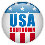 United States Shutdown Governement Button Royalty Free Stock Image