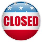 United States Shutdown Governement Button Stock Photo