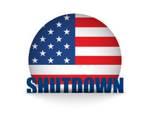 United States Shutdown Governement Button Royalty Free Stock Photos