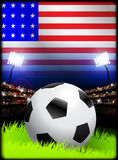 United States Soccer Match in Stadium Stock Images