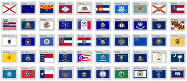 United states stamps vector Royalty Free Stock Images