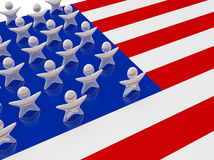 United States Stars. United States of America flag with stars shaped figures. Concept of human aspect of US or patriotism, unity and togetherness Stock Photos