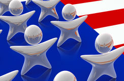 United States Stars. Detail of United States of America flag with stars shaped figures. Concept of human aspect of US or patriotism, unity and togetherness Royalty Free Stock Photos