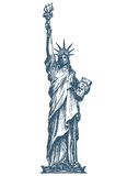 United States. Statue of liberty on a white Royalty Free Stock Photo