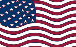 United states stylized flag Royalty Free Stock Images