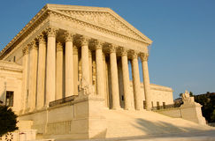 United States Supreme Court in Afternoon Light Royalty Free Stock Images