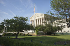 United States Supreme Court Building with Flag Stock Images
