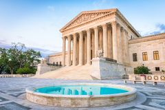 United States Supreme Court Building. In Washington DC, USA Royalty Free Stock Image