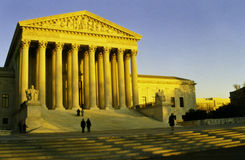 United States Supreme Court evening sunset, Washtington, D.C. Stock Image