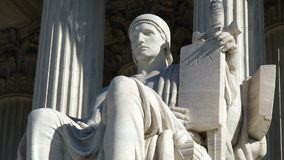 United States Supreme Court Statue with Zoom stock video