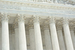 United States Supreme Court with Text. United States Supreme Court with Equal Justice Under Law Text Royalty Free Stock Photos