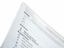United States Tax Form Royalty Free Stock Images