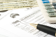 United States Tax Form Stock Photos