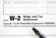 US Tax Forms. United States tax forms for the IRS stock photos