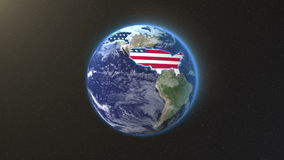 United States territory earth. Background stock video footage