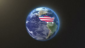 United States with title earth. Background stock video footage