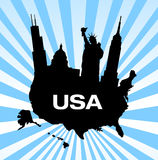 United states travel landmarks Stock Images
