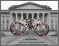 United States Treasury Arrest Fraud Government Security stock image