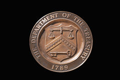 United States Treasury Department stamp Stock Image