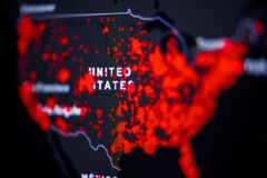 Free United States, USA . Coronavirus COVID-19 Global Cases Map. Red Dot Showing The Number Of Infected. Johns Hopkins University Map Stock Image - 176694231