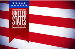 United states. usa flag banner illustration Royalty Free Stock Photos