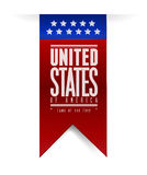 United states. usa flag banner illustration Royalty Free Stock Photo