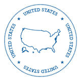 United States vector map sticker. Stock Images