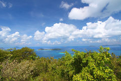 United States Virgin Islands. View of the Caribbean from Virgin Islands National Park on St John (USVI Stock Images