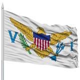 United States Virgin Islands kennzeichnen auf Fahnenmast Stockbild