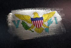 United States Virgin Islands kennzeichnen gemacht von metallischer Bürsten-Farbe O lizenzfreies stockbild