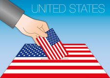 United States, Voting for the president of the united states symbol Royalty Free Stock Photography
