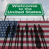 United States Wall and Immigration royalty free illustration