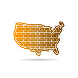 United States Wall Map Logo Design Royalty Free Stock Photography