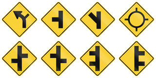 United States warning MUTCD road signs Stock Photography