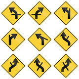 United States warning MUTCD road signs Royalty Free Stock Photography
