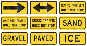 United States warning MUTCD road signs Royalty Free Stock Images