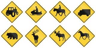 United States warning MUTCD road signs Stock Image