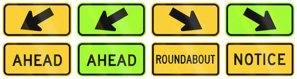 United States warning MUTCD road signs Stock Photo