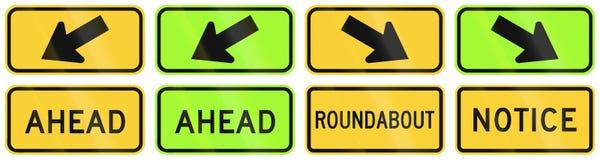 United States warning MUTCD road signs Stock Photo