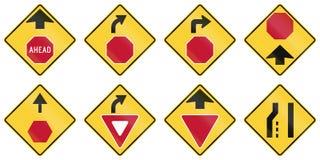 United States warning MUTCD road signs Stock Photos