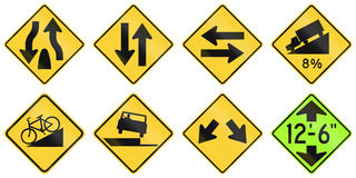 United States warning MUTCD road signs Stock Photos