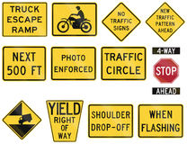 United States warning MUTCD road signs Royalty Free Stock Photos