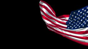 United States Waving Realistic Flag. Waving USA Realistic Flag with Alpha Channel stock video footage