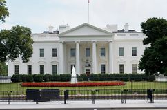 United States White House Heavy Security July 17, 2017. The White House in Washington D.C. July 17, 2017.  Presidents residence. July 17, 2017, Washington D.C Royalty Free Stock Images