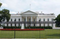 United States White House Heavy Security July 17, 2017. The White House in Washington D.C. July 17, 2017.  Presidents residence. July 17, 2017, Washington D.C Stock Image