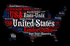 United States - Word cloud illustration Stock Photography