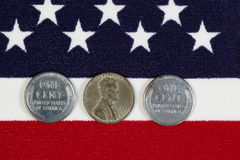 United States World War II Steel Cents Stock Photo
