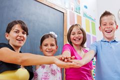 United students and teacher stock photography